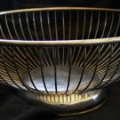 Vintage Italian Round Silver Plate Wire Basket - Aellberti, signed
