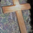 """Handmade Solid Oak Wood Wall Cross, Handcrafted Wooden Wall Decoration, Large 12"""""""