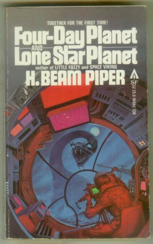 Four-Day Planet - Lone Star Planet by Piper, McGuire - Sci Fi, Ace Double, 1979 PB, Cover- Whelan