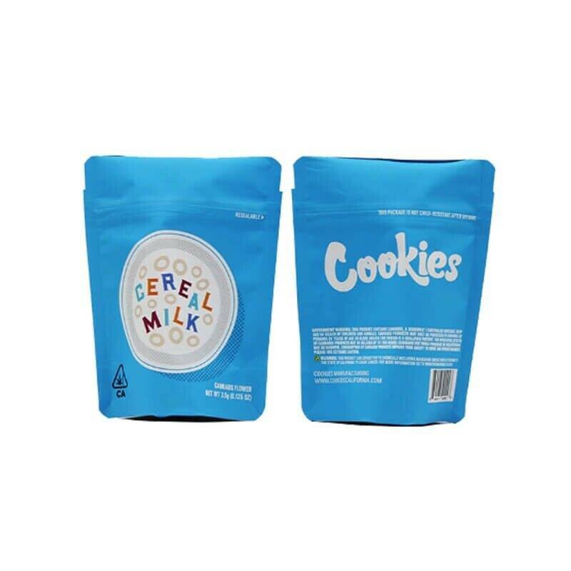 Mylar Cookies 3.5g Cereal Milk (25 Bags) Ziplock Smell Proof