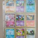 9 x authentic pokemon cards rares, HTF & holograms, in plastic album binder