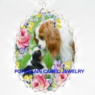 CAVALIER KING CHARLES SPANIEL MOM KISS PUPPY NECKLACE