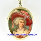 JEWELED PINK BUTTERFLY MARIE ANTOINETTE CAMEO LOCKET