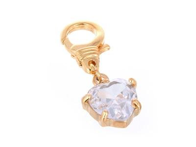 JUICY COUTURE CRYSTAL HEART DIAMOND*  HANDBAG/BRACELET CHARM