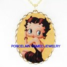 SEXY BETTY BOOP * CAMEO PORCELAIN PENDANT NECKLACE