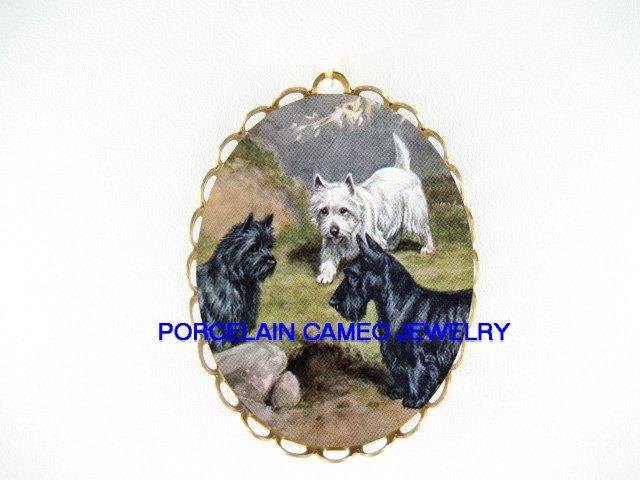 SCOTTISH TERRIER WESTIE CAIRN TERRIER DOG PIN PENDANT