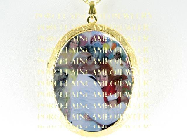 LITTLE ORPHAN ANNIE  CAMEO PORCELAIN LOCKET NECKLACE