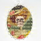 DAY OF DEAD VICTORIAN SKULL PORCELAIN CAMEO NECKLACE