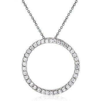 DESIGNER INSPIRED * CIRCLE OF LIFE*  CRYSTAL NECKLACE