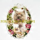 CAIRN TERRIER DOG MOM CUDDLE PUPPY PINK ROSE PIN BROOCH
