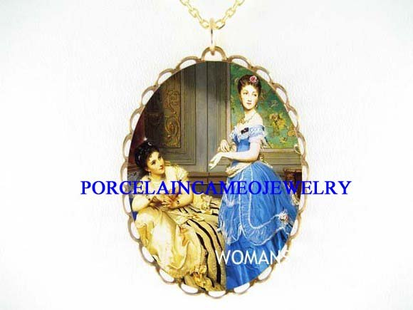 VICTORIAN SISTERS BEST FRIEND PORCELAIN CAMEO NECKLACE