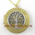 TREE CIRCLE OF LIFE VINTAGE ANTIQUE ROUND LOCKET NECKLACE