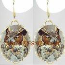 BEAUTIFUL HORNED OWL BIRD LIGHT WEIGHT EARRINGS