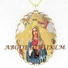 CATHOLIC CROWN VIRGIN MARY ANGEL PORCELAIN NECKLACE