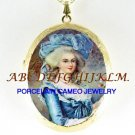 QUEEN MARIE ANTOINETTE PORCELAIN CAMEO LOCKET NECKLACE-3