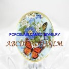 BUTTERFLY FORGET ME NOT DAISY PORCELAIN CAMEO RING 5-9