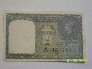 Mahatma Gandhi & King George VI rupees