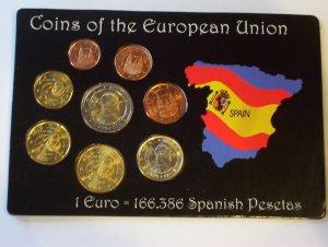 Spanish Designed Euro Coin Set