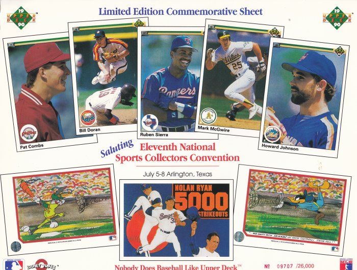 Limited Edition Commemorative Sheet 1990 Arlington