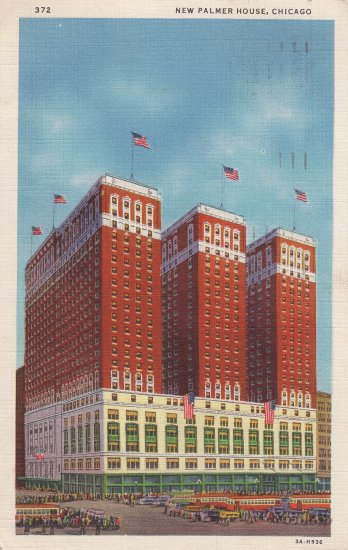 New Palmer House postcard 1935 Chicago