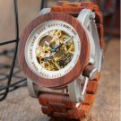 Mens Automatic Mechanical Watch K12 Classic Style Luxury Analog Wristwatch Wooden With Steel