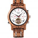 Automatic Skeleton Mechanical Watches Men Zebrawood Luxury Watch Self