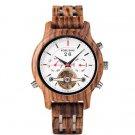 Automatic Skeleton Mechanical Watches Men Zebrawood2 Luxury Watch Self