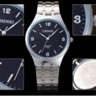 Mens Watch Stainless steel Casual Business Watches Analog Black