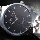 Lovers Watches Men Luxury Brand Black Steel Watch Quartz Men's Wristwatch
