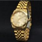 Clock Golden Fashion Men Watch Stainless Steel Quartz Watches Men