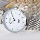 Ultrathin Watches Silver White For Men Waterproof Stainless Steel Watch Male Quartz Watch