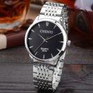 Watches Men Luxury Brand Black Quartz Watches Steel Strap Male Clock Waterproof Wristwatches