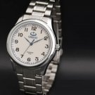 Woman White Silver Bracelet Classic Watches Woman Full Stainless Steel Watch