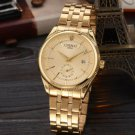 Golden Watch Men Luxury Wristwatch Quartz Wrist Watch Calendar