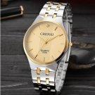 Men Quartz Watch Luxury Brand Men Stainless Steel Golden Wristwatch