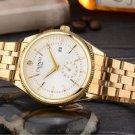 Gold Watch Men Top Brand Famous Wristwatch Quartz Wrist Watch Calendar