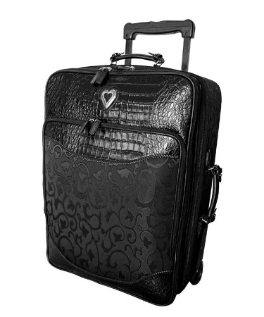 Genuine Leather Wheeled Carry On- Brighton inspired