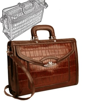 Brighton Inspired- Toulon Genuine Leather Briefcase