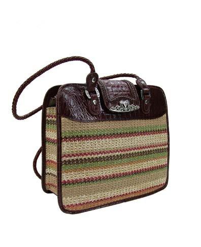 Brighton Inspired- Paradeso Genuine Leather Trim Handbag
