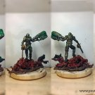 Doom Slayer, BFG and chainsaw with imps.