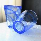 Pair of KOSTA BODA Water Glasses, Blue Swirl Glass, Design Ulrica Hydman Vallien,
