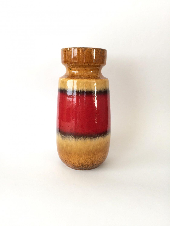 SCHEURICH Ceramic Vase, Pattern 242-22, Vintage Mid Century Modern German Pottery