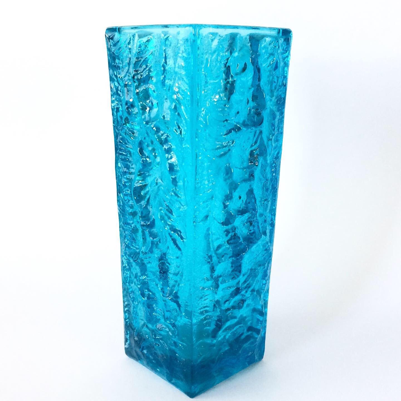 SKLO UNION Moravia Vase, Vladislav Urban Design, Turquoise Glass Vase, Rosice Glassworks