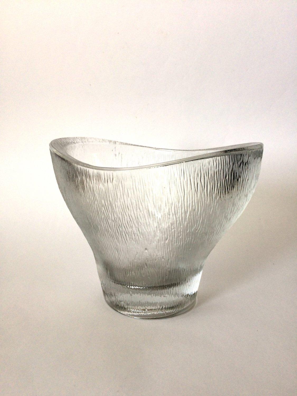 SKLO UNION, Frantisek Vizner �Eye bath� Jardiniere, Translucent Glass Vase, Rudolfova Hut