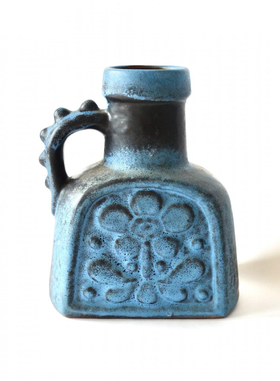 CARSTENS Ceramic Jug Vase, Design Dieter Peter, Vintage Mid Century Modern West German Pottery