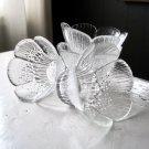Set of 4 Vintage Glass Bowls, Design Pertti Kallioinen, Mäntsälän Lasisepät, Fidenza Italy Glass