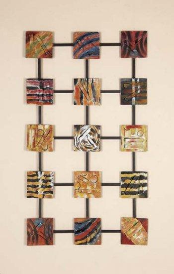 Abstract Safari Metal Wall Decor Sculpture Plaque Art Hanging
