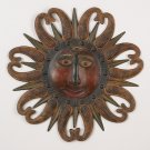 Aztec Sun Metal Wall Decor Art Plaque Hanging Sculpture