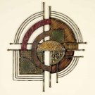 Abstract Cosmos Metal Wall Decor Sculpture Art Plaque