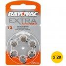 Rayovac PR-48 (13) Extra Advanced Zinc-Air Hearing-Aid Battery (120pcs) #10113